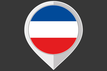 yugoslavia: A Pointer with the flag of Yugoslavia Stock Photo