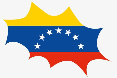 venezuela: An Explosion wit the flag of Venezuela