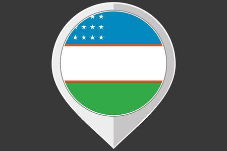 uzbekistan: A Pointer with the flag of Uzbekistan