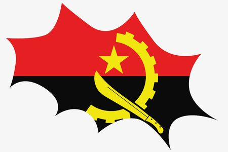 spikey: An Explosion wit the flag of Angola
