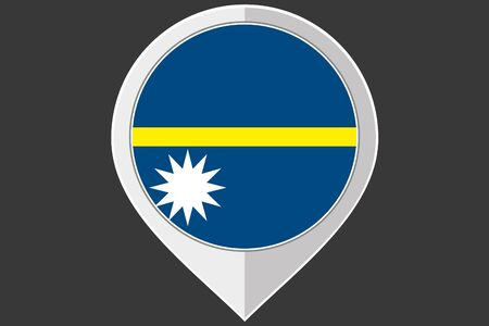 nauru: A Pointer with the flag of Nauru Stock Photo
