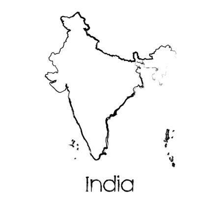 scribbled: A Scribbled Shape of the Country of India