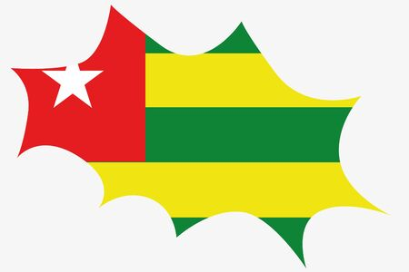 wit: An Explosion wit the flag of Togo