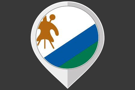 LESOTHO: A Pointer with the flag of Lesotho