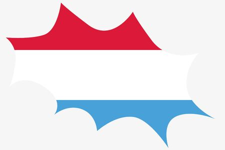 wit: An Explosion wit the flag of Luxembourg