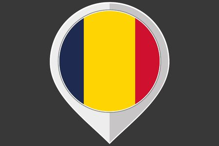 chad: A Pointer with the flag of Chad Illustration
