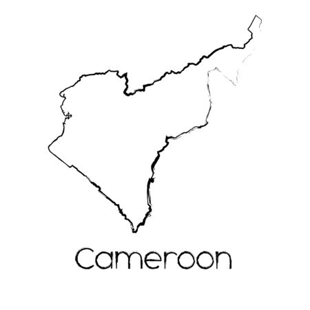 scribbled: A Scribbled Shape of the Country of Cameroon