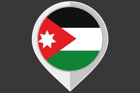 jordanian: A Pointer with the flag of Jordan
