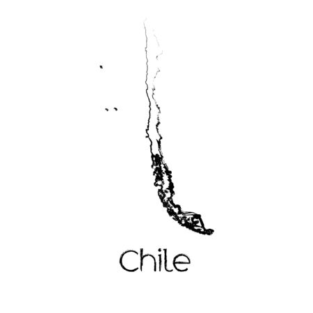 scribbled: A Scribbled Shape of the Country of Chile