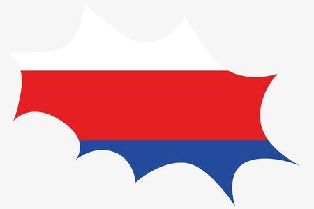 serbien: Eine Explosion Witz der Flagge von Serbien Illustration