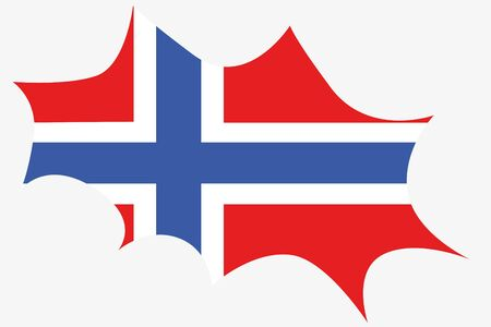 norway flag: An Explosion wit the flag of Norway