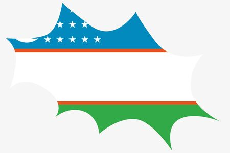 oezbekistan: An Explosion wit the flag of Uzbekistan