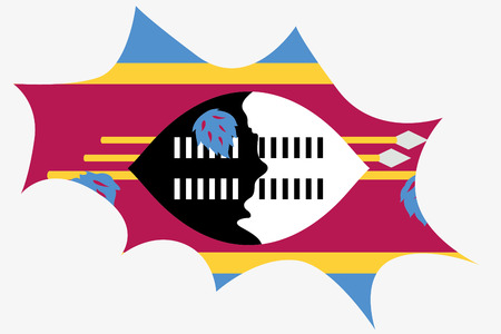 swaziland: An Explosion wit the flag of Swaziland Illustration