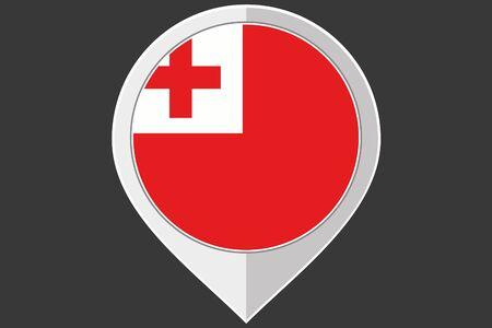 tonga: A Pointer with the flag of Tonga