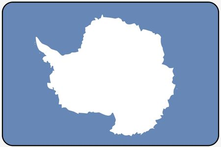 antartica: A Flat Design Flag Illustration with Rounded Corners and Black Outline of the country of Antartica
