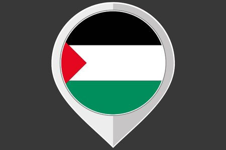 palestine: A Pointer with the flag of Palestine