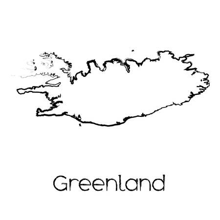 greenland: A Scribbled Shape of the Country of Greenland