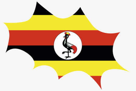 wit: An Explosion wit the flag of Uganda