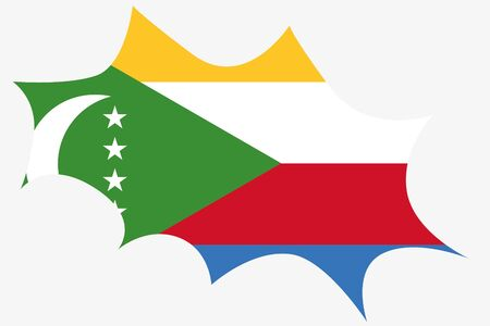 comoros: An Explosion wit the flag of Comoros Vectores