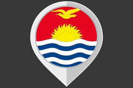 kiribati: A Pointer with the flag of Kiribati Illustration