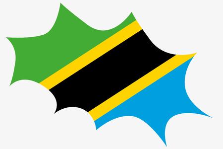 tanzania: An Explosion wit the flag of Tanzania Illustration