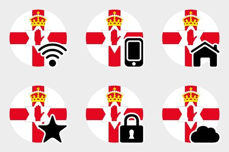 northern: A Web Icon Set with the Flag of Northern Ireland