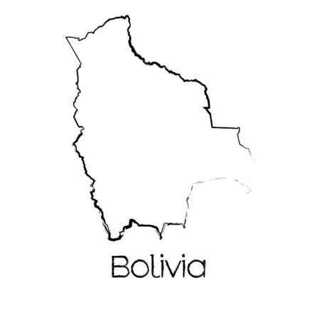 scribbled: A Scribbled Shape of the Country of Bolivia