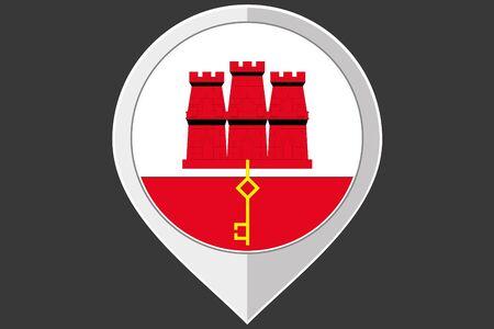 gibraltar: A Pointer with the flag of Gibraltar