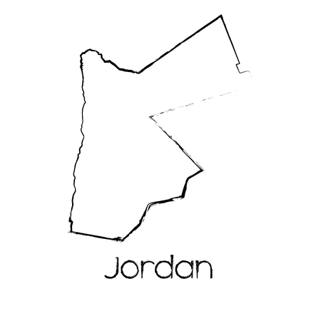 scribbled: A Scribbled Shape of the Country of Jordan