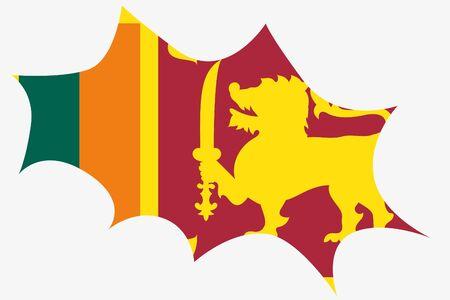 sri: An Explosion wit the flag of Sri Lanka Illustration