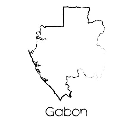 scribbled: A Scribbled Shape of the Country of Gabon