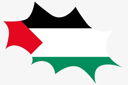 palestine: An Explosion wit the flag of Palestine