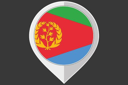 eritrea: A Pointer with the flag of Eritrea