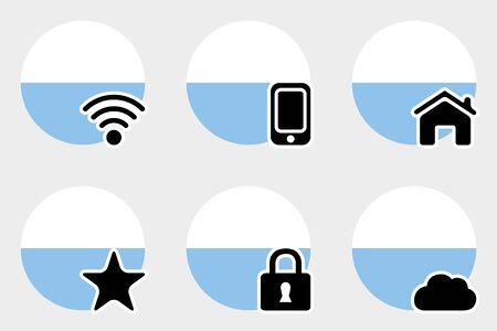 marino: A Web Icon Set with the Flag of San Marino