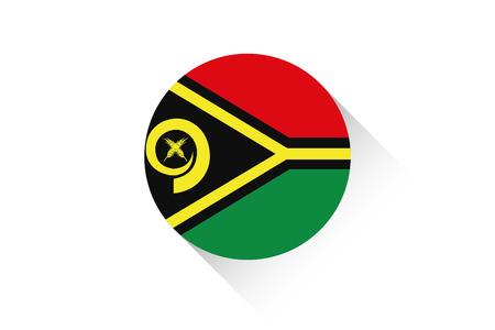 vanuatu: A Round flag with shadow of Vanuatu