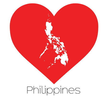 A Heart illustration with the shape of Philippines