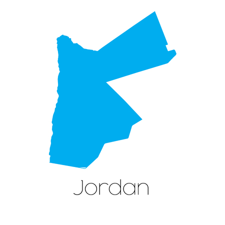 jordanian: A Blue shape with name of the country of Jordan