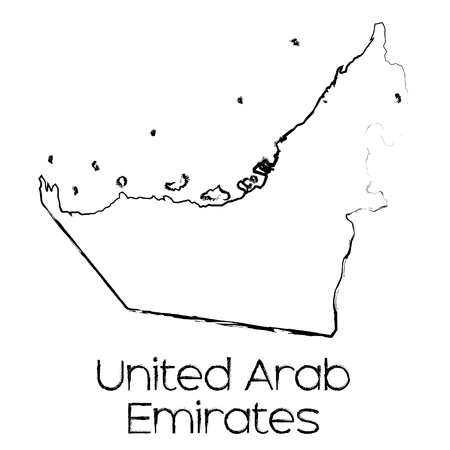 scribbled: A Scribbled Shape of the Country of United Arab Emirates