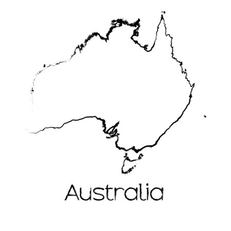 scribbled: A Scribbled Shape of the Country of Australia