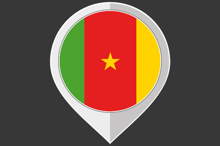 cameroon: A Pointer with the flag of Cameroon