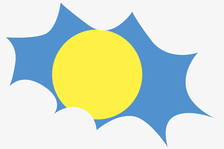wit: An Explosion wit the flag of Palau Illustration