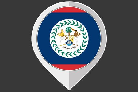 belize: A Pointer with the flag of Belize
