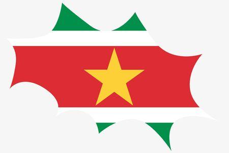 suriname: Een explosie Wit de vlag van Suriname