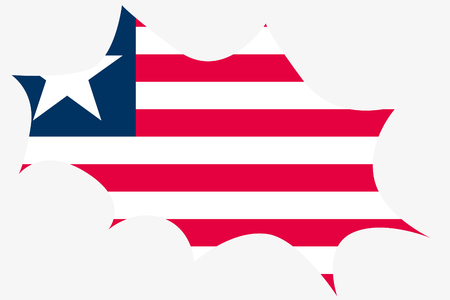 wit: An Explosion wit the flag of Liberia