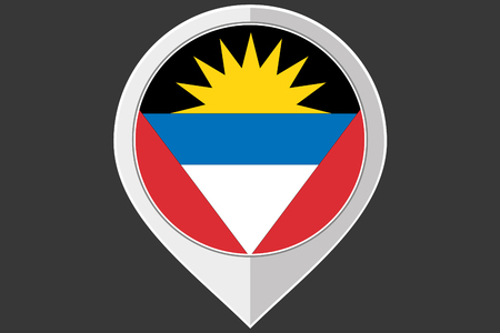 barbuda: A Pointer with the flag of Antigua and Barbuda Illustration
