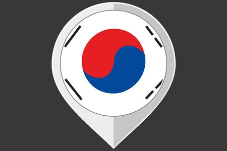 korea: A Pointer with the flag of South Korea