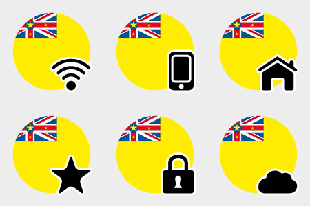 niue: A Web Icon Set with the Flag of Niue Illustration