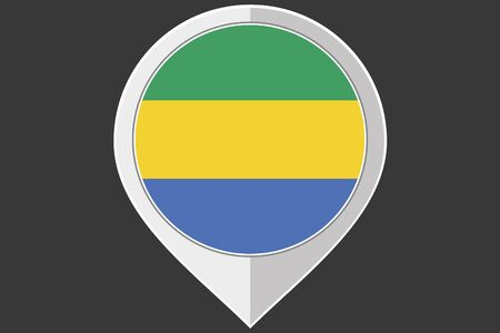 gabon: A Pointer with the flag of Gabon Illustration