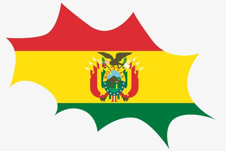 wit: An Explosion wit the flag of Bolivia Illustration