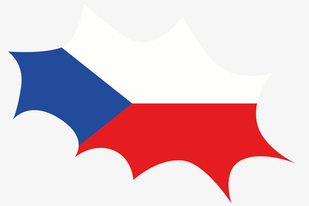 wit: An Explosion wit the flag of Czech Republic